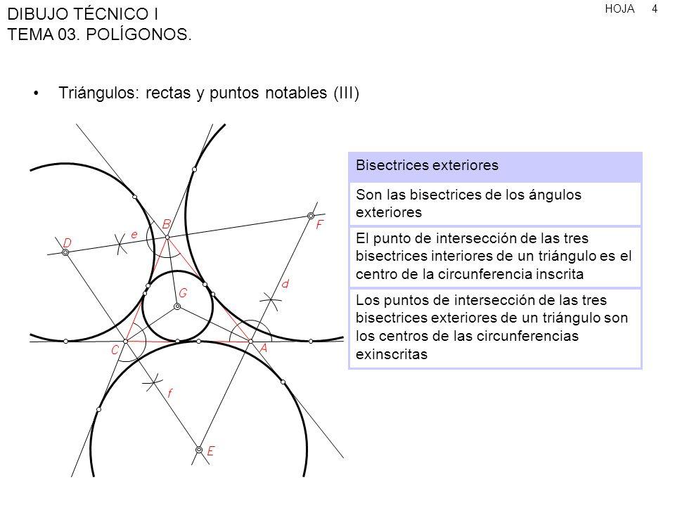 HOJA DIBUJO TÉCNICO I TEMA 03.POLÍGONOS. 25 Polígonos de n lados, conociendo el radio 1.