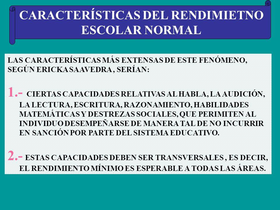 EL RENDIMIENTO ESCOLAR NORMAL * LOS NIÑOS CON R.E.N. ( RENDIMIENTO ESCOLAR NORMAL ) SE ENCUENTRAN EN DISTINTOS ÁMBITOS DEL SISTEMA EDUCATIVO FORMAL. *