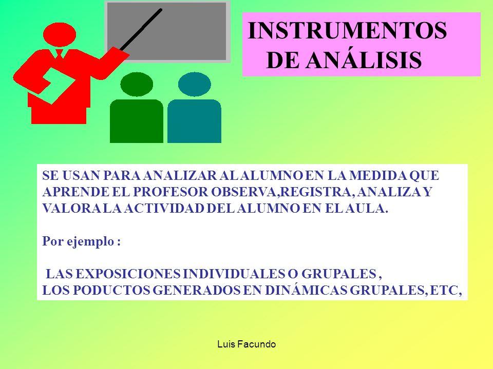 Luis Facundo INSTRUMENTOS DE INTERROGACIÓN EL CUESTIONARIO Lista de preguntas anotadas para ser leídas y contestadas LA ENTREVISTA Interroga sobre asp