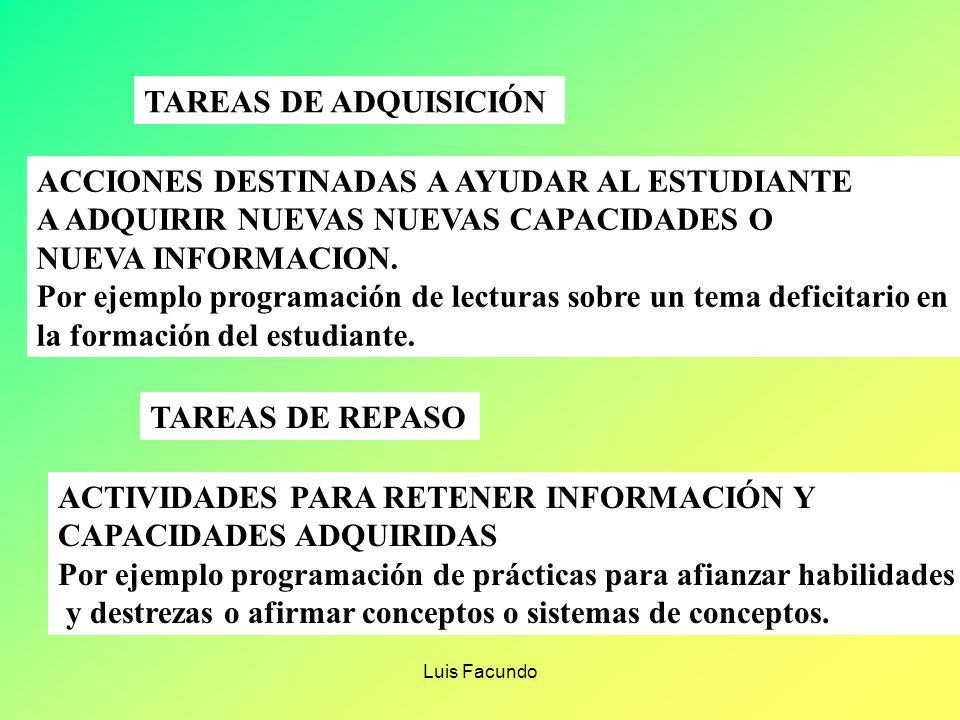 Luis Facundo CRITERIOS INDICADORES VALORES Presentación del tema Lee el trabajo Expone sin leer Utiliza recursos didácticos Usa multimedia Bien prepar