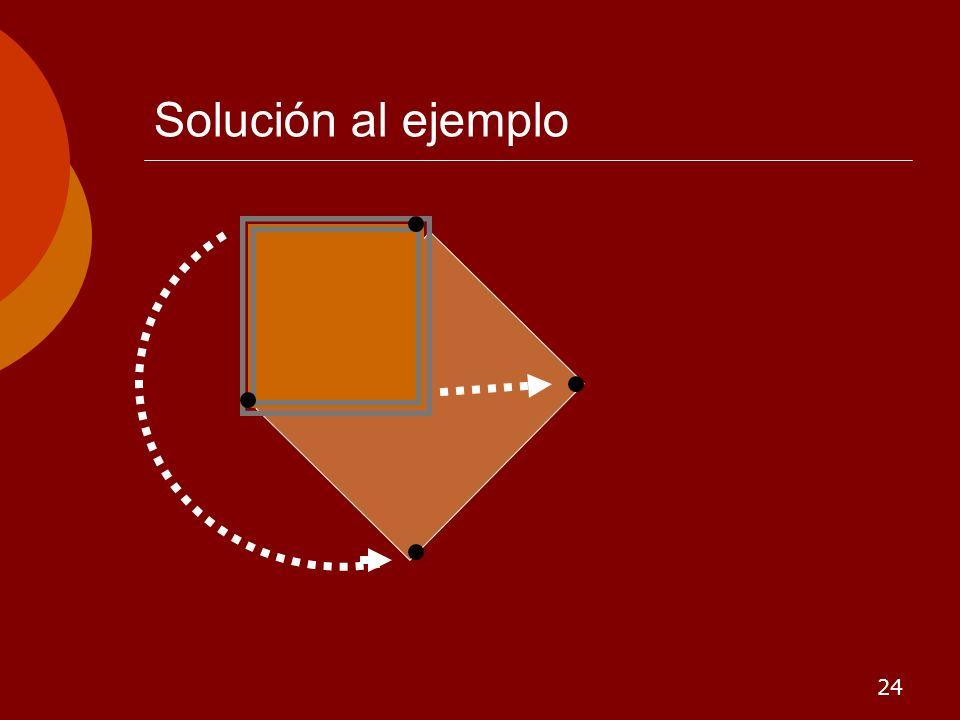 24 Solución al ejemplo