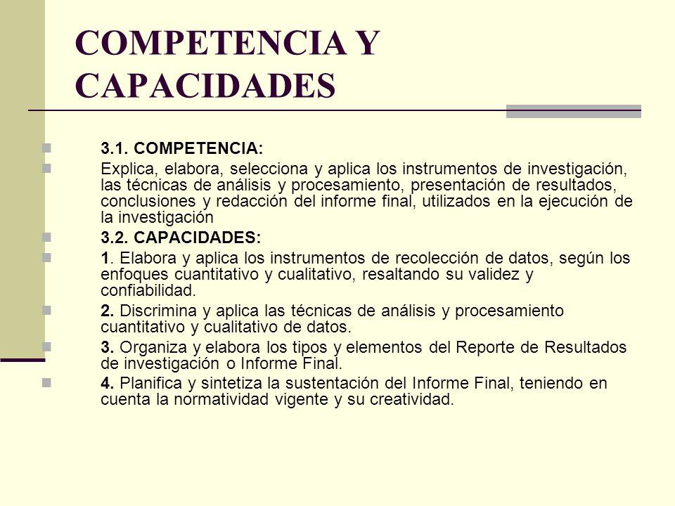 CAPACIDAD ES CONTENIDOSINDICADORES PROCED I- MIENTO S INSTRUMEN TO RESPON- SABLE 1.