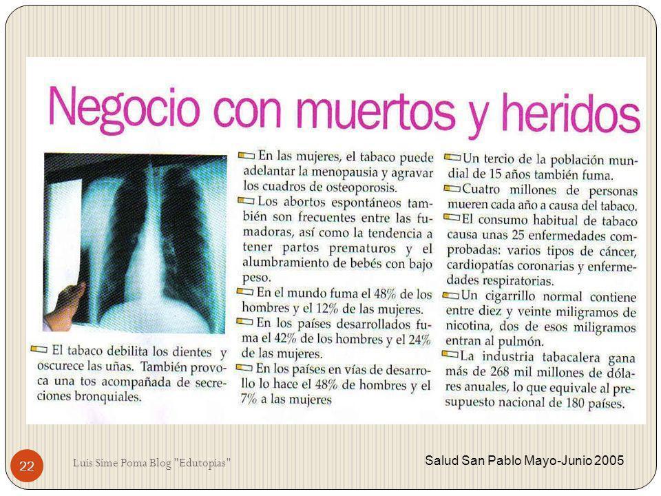 Salud San Pablo Mayo-Junio 2005 22 Luis Sime Poma Blog