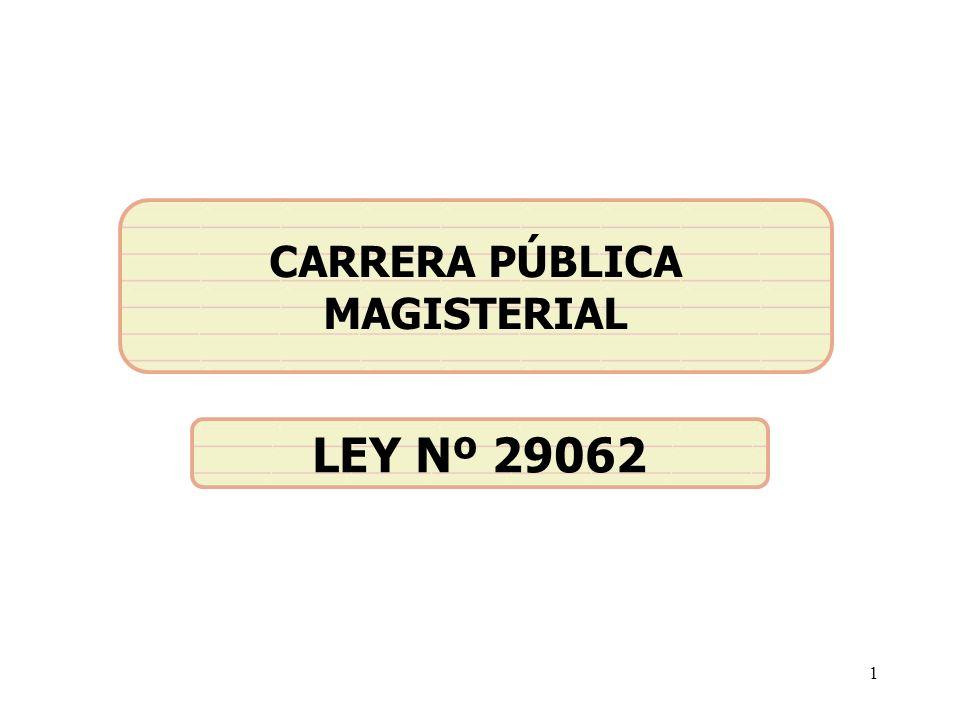 1 CARRERA PÚBLICA MAGISTERIAL LEY Nº 29062
