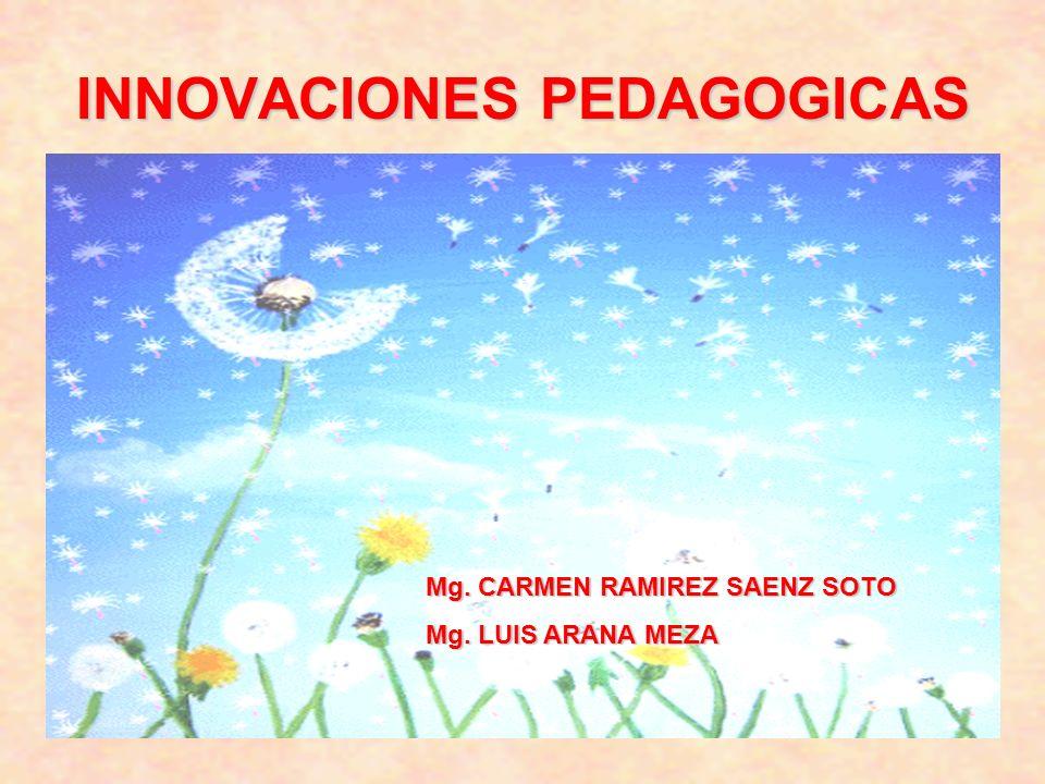 INNOVACIONES PEDAGOGICAS Mg. CARMEN RAMIREZ SAENZ SOTO Mg. LUIS ARANA MEZA