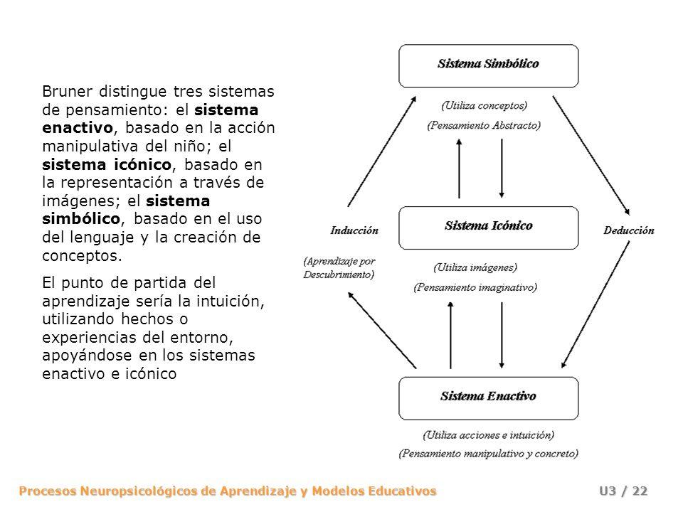 Procesos Neuropsicológicos de Aprendizaje y Modelos Educativos U3 / 21 Jerome Bruner plantea que el conocimiento es más útil a una persona cuando es d