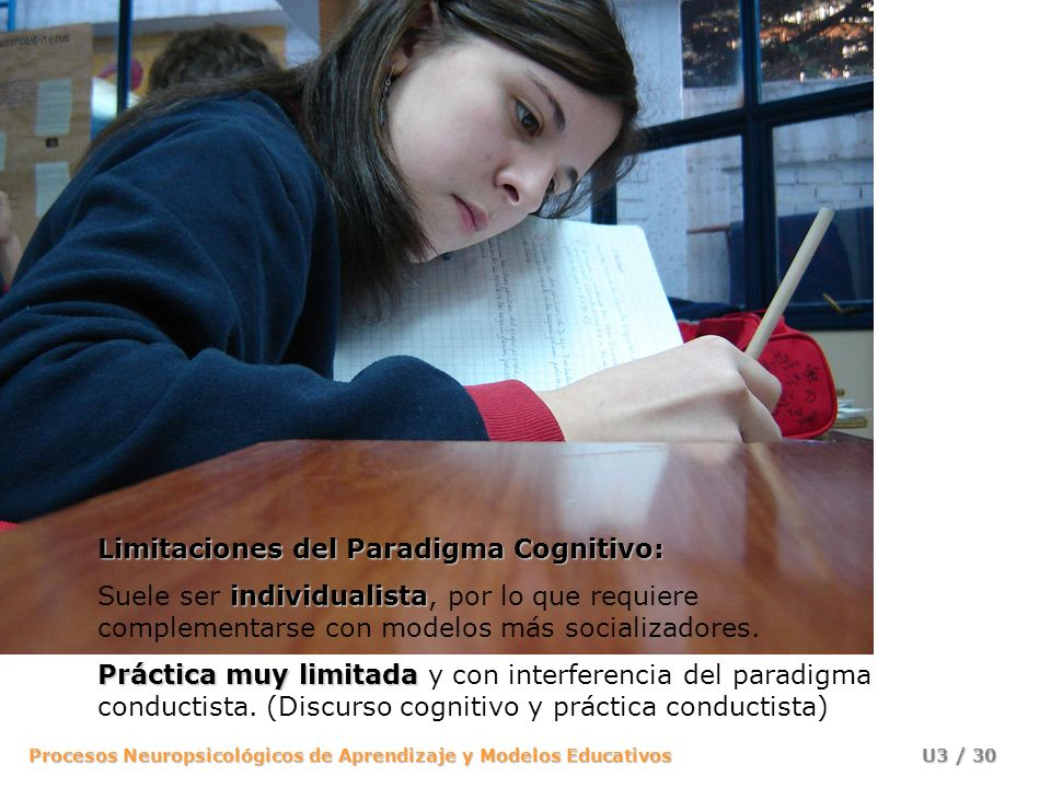 Procesos Neuropsicológicos de Aprendizaje y Modelos Educativos U3 / 29 modelo de persona y de ciudadano El modelo de persona y de ciudadano que se pre