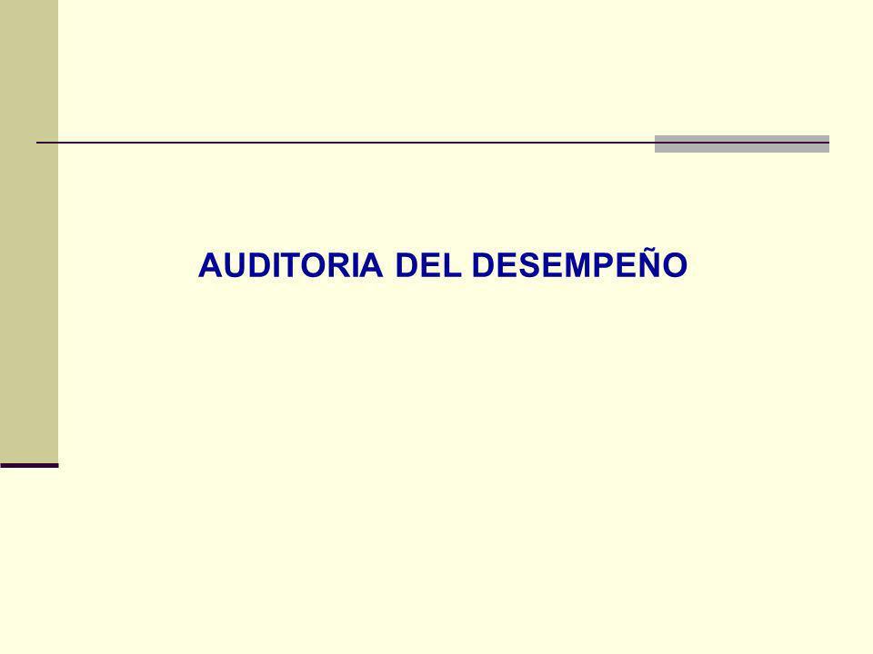 AUDITORIA DEL DESEMPEÑO