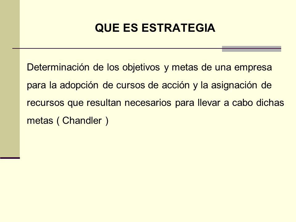 ESTRATEGIA Estrategia no es : Reingeniería,Transformación Organizacional, Calidad Total, Reestructuración Empresarial,Benchmarking, Outsourcing.