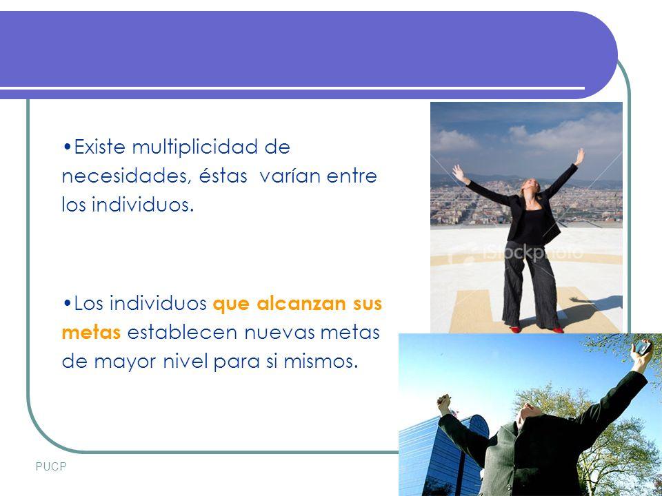 PUCPSETIEMBRE 2007 Existe multiplicidad de necesidades, éstas varían entre los individuos.