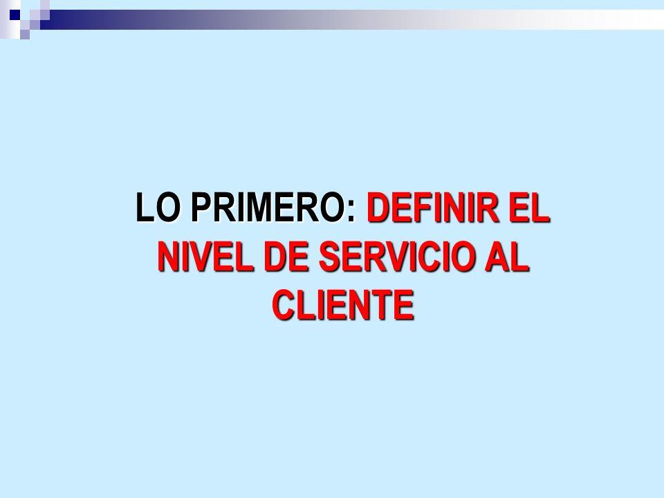 SINCRONIZACIÓN DE LA CADENA DE SUMINISTROS ACTIVIDADES BÁSICAS Medición de servicio o TIF Cambio de visión: Cadena de suministros para VENDER y no para comprar.