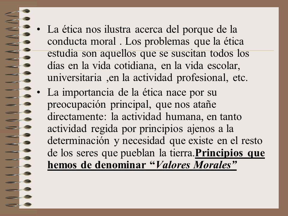 De aquí se sigue que sólo el hombre es un ser moral, dado que en la realidad infrahumana sólo existe la necesidad y el determinismo de las conductas instintivas.