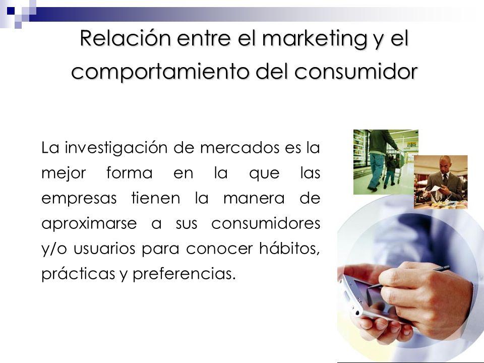 La investigación de mercados puede suministrar información sobre muchos aspectos del sistema de mercadeo.