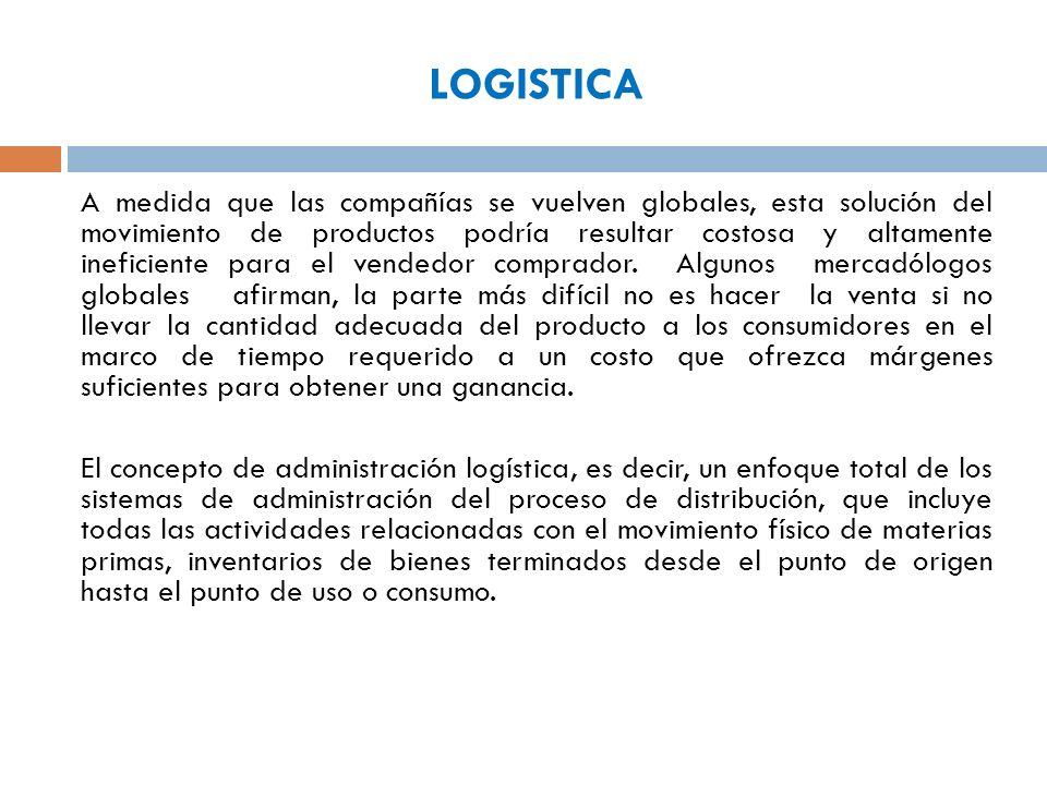 PAPEL DE INTERNET EN LA LOGISTICA Logística internacional es integrar todos los pasos necesarios para mover físicamente los bienes de un fabricante a un proveedor a un cliente.