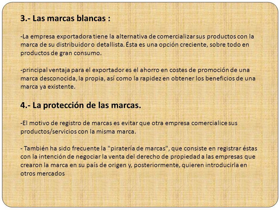 LA MARCA Y EL NOMBRE COMERCIAL Las marcas tienen mayor importancia en el marketing de productos de consumo que en productos industriales o en servicio