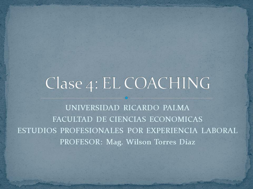 UNIVERSIDAD RICARDO PALMA FACULTAD DE CIENCIAS ECONOMICAS ESTUDIOS PROFESIONALES POR EXPERIENCIA LABORAL PROFESOR: Mag.