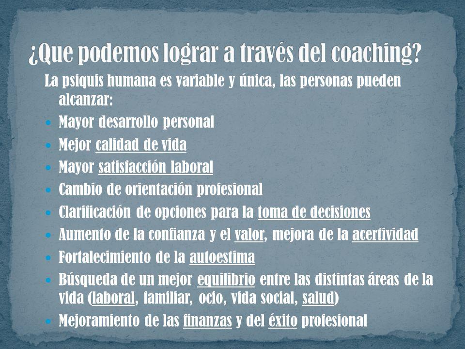Trabaja focalizando metas cortas. Una de las herramientas más poderosas del coaching es la cadena de preguntas bien formuladas, para que el cliente pu