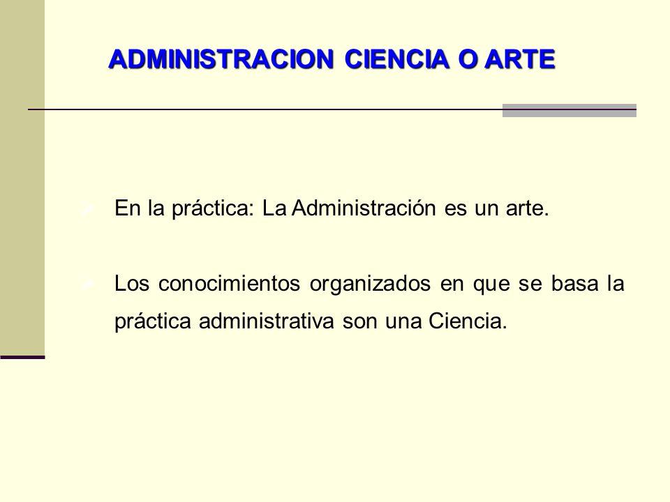 LA ADMINISTRACIÓN 1.La administración implica planear, organizar, integrar personal, dirigir y controlar.