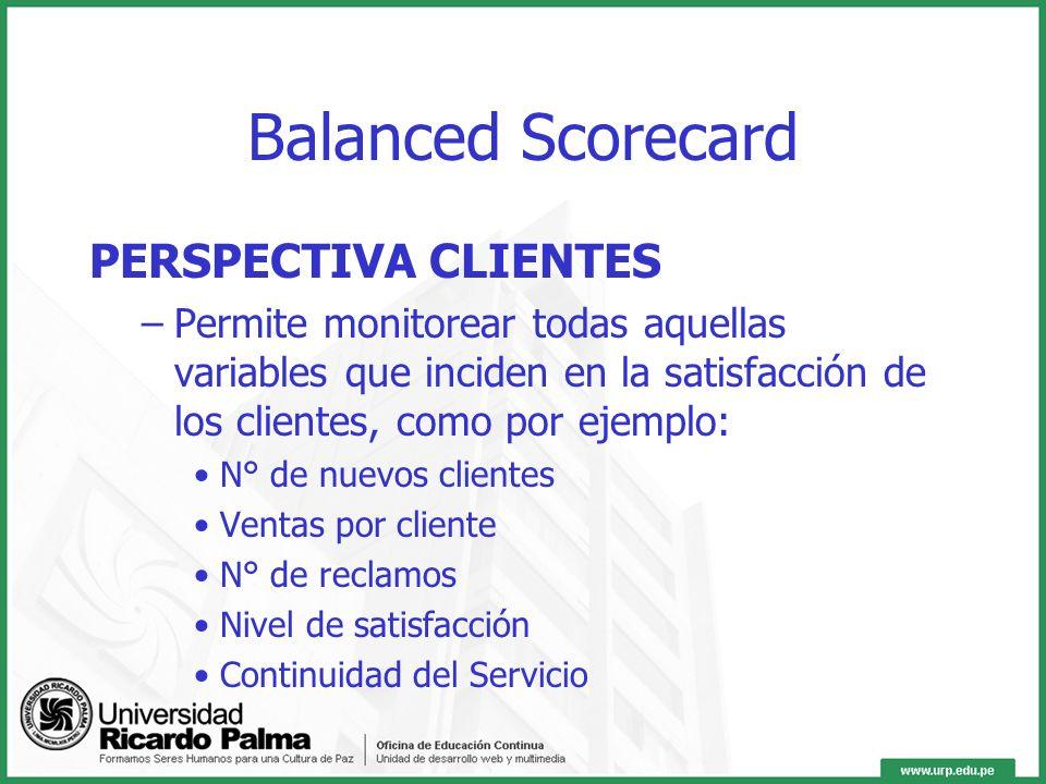 PERSPECTIVA FINANCIERA –Busca dar importancia a la actuación financiera de la empresa. Es la que le interesa a los accionistas. Contempla indicadores