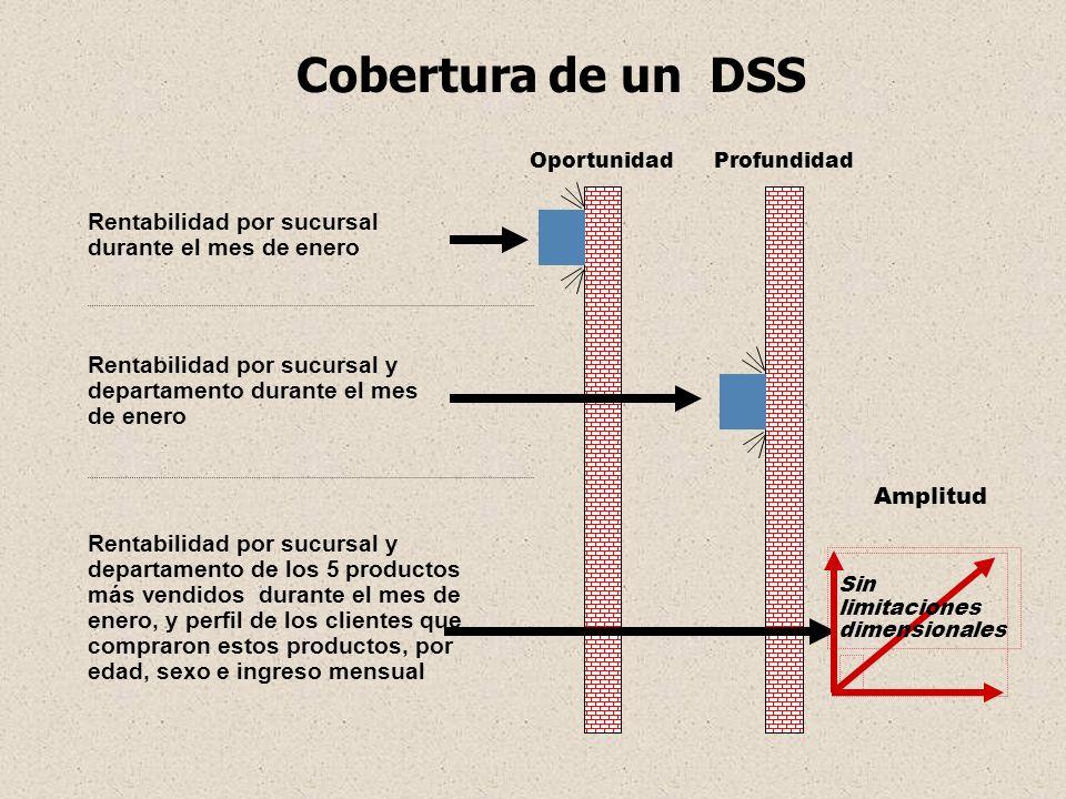 Qué es un DW Almacén de información temática orientado a cubrir las necesidades de aplicaciones de los sistemas de Soporte de Decisiones (DSS) y de la Información de Ejecutivos (EIS), que permite acceder a la información corporativa para la gestión, control y apoyo a la toma de decisiones.