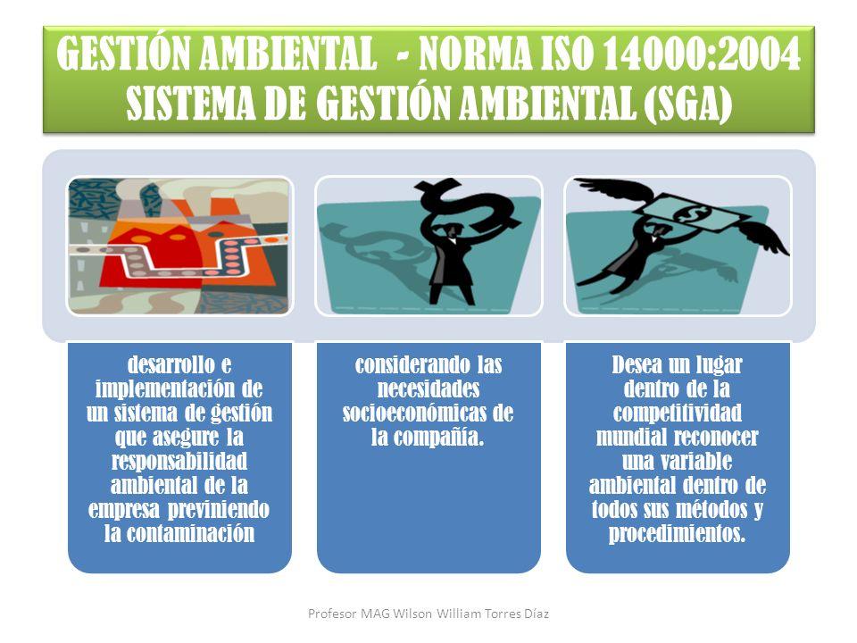 desarrollo e implementación de un sistema de gestión que asegure la responsabilidad ambiental de la empresa previniendo la contaminación considerando