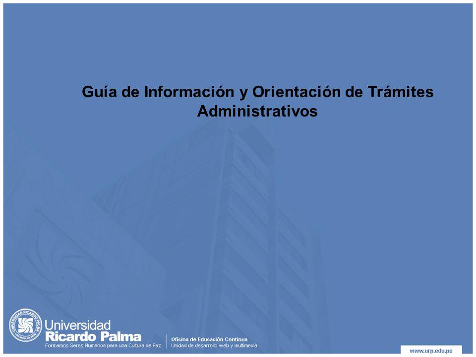 Guía de Información y Orientación de Trámites Administrativos
