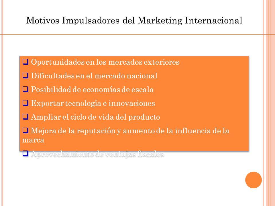 Factores de Decisión Programa del MarketingDebe ajustarse al clima comercial.
