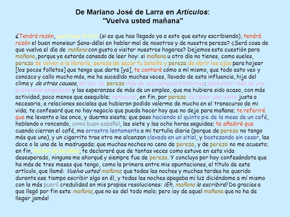 De Mariano José de Larra en Artículos: