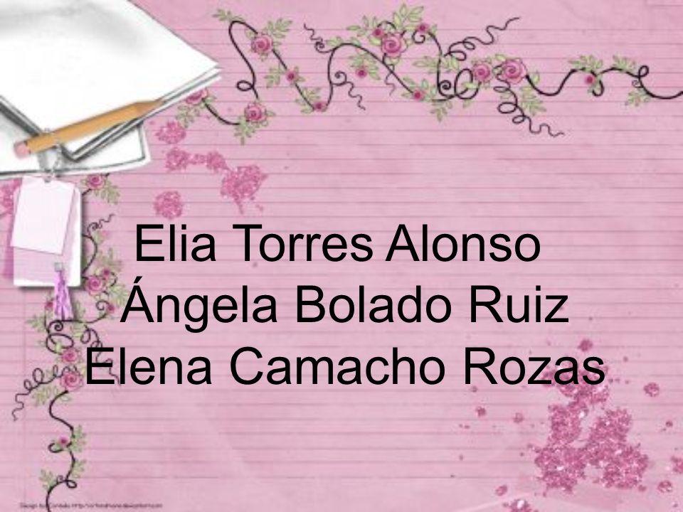 Elia Torres Alonso Ángela Bolado Ruiz Elena Camacho Rozas