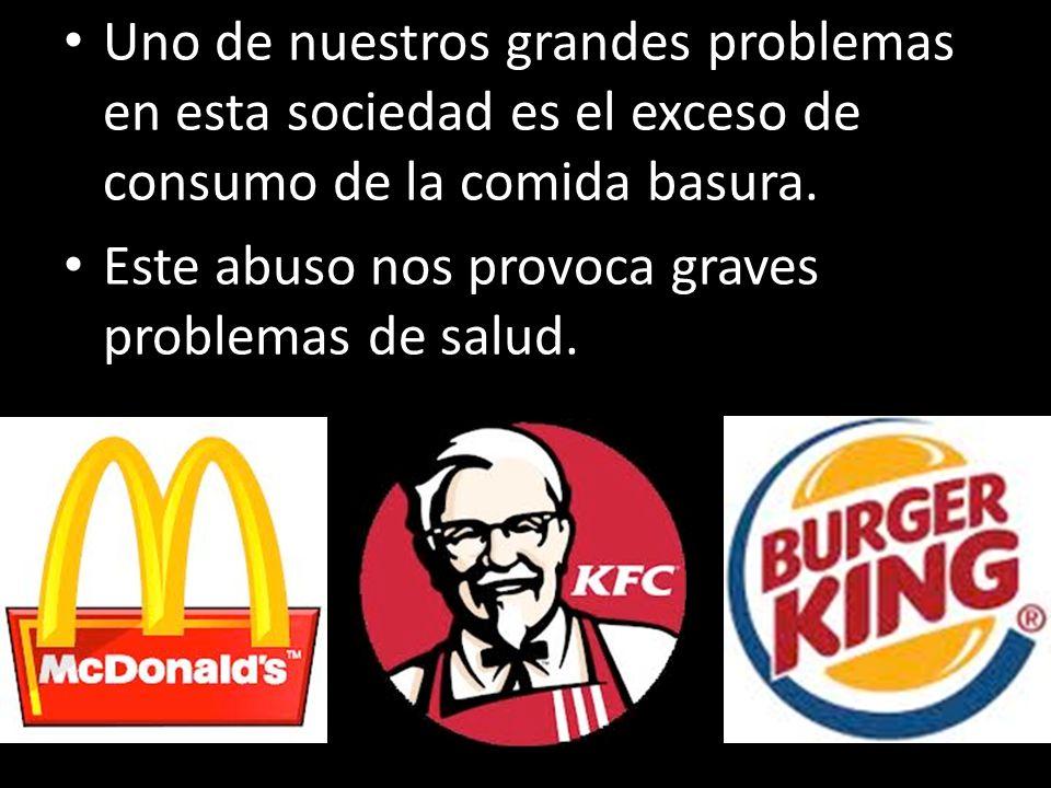 Uno de nuestros grandes problemas en esta sociedad es el exceso de consumo de la comida basura. Este abuso nos provoca graves problemas de salud. 220