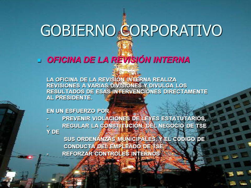 OFICINA DE LA REVISIÓN INTERNA OFICINA DE LA REVISIÓN INTERNA LA OFICINA DE LA REVISIÓN INTERNA REALIZA REVISIONES A VARIAS DIVISIONES Y DIVULGA LOS R
