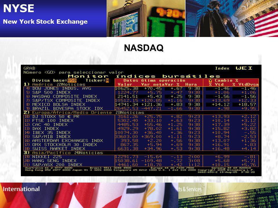 NYSE New York Stock Exchange NASDAQ
