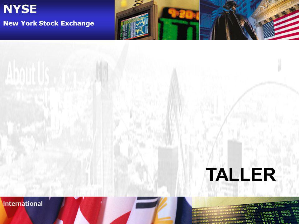 NYSE New York Stock Exchange TALLER