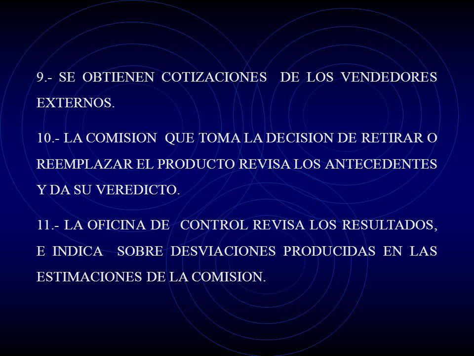 6.- SE PREPARA UN DETALLE AMPLIO DE ESPECIFICACIONES, HOJAS DE RUTA Y PEDIDOS DE HERRAMIENTA 7.- LA PRODUCCION CONFECCIONA UN PRONOSTICO PRECISO DE US