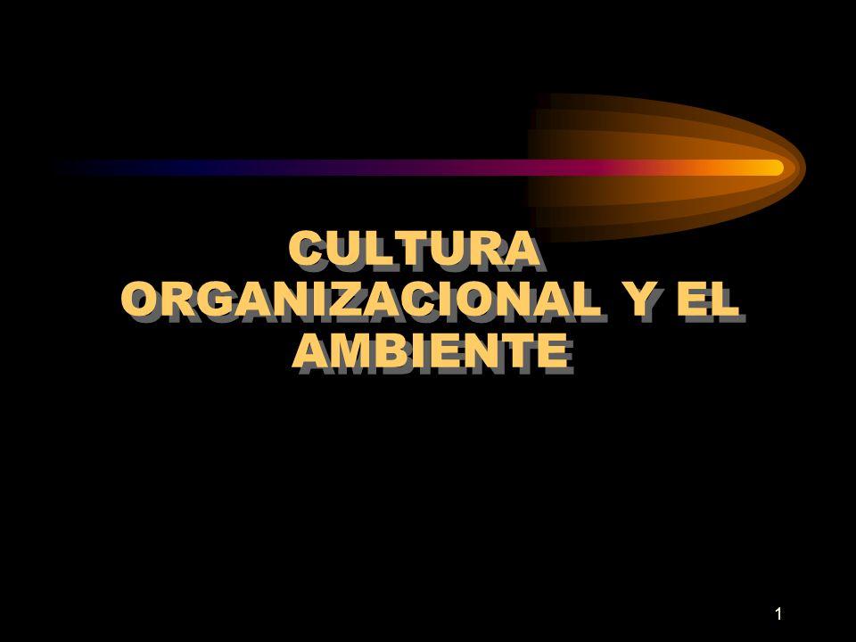 1 CULTURA ORGANIZACIONAL Y EL AMBIENTE