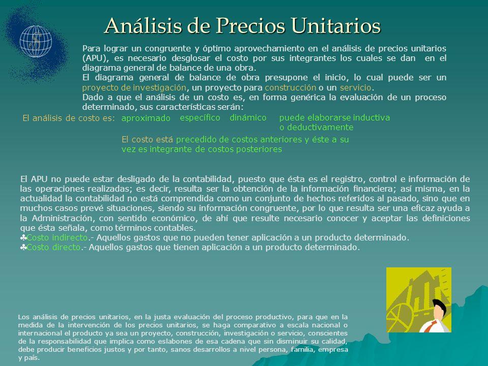 Los análisis de precios unitarios, en la justa evaluación del proceso productivo, para que en la medida de la intervención de los precios unitarios, s