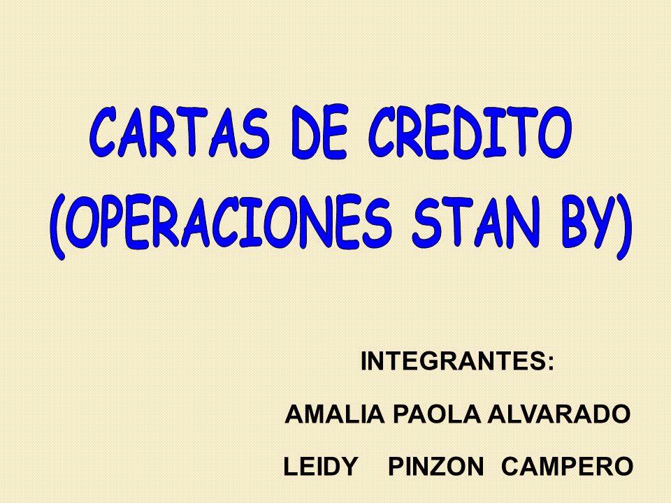 INTEGRANTES: AMALIA PAOLA ALVARADO LEIDY PINZON CAMPERO