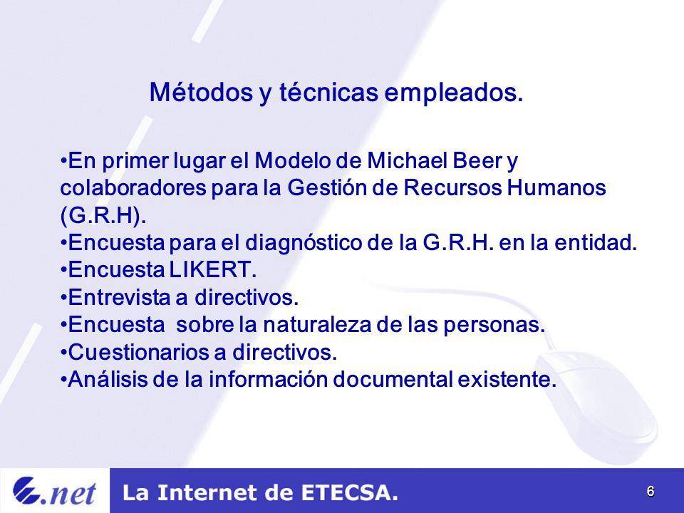 6 Métodos y técnicas empleados.