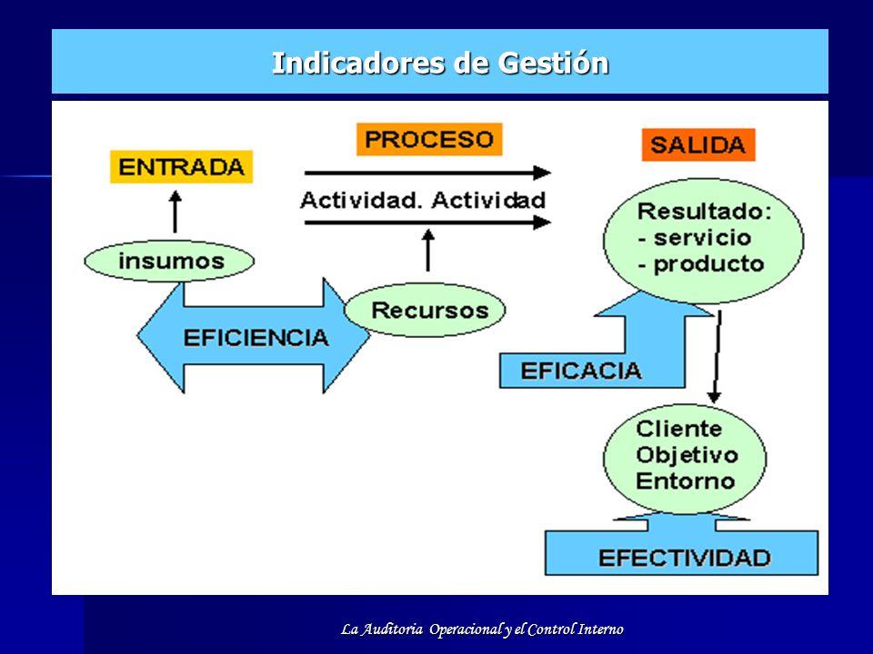 La Auditoria Operacional y el Control Interno Indicadores de Gestión