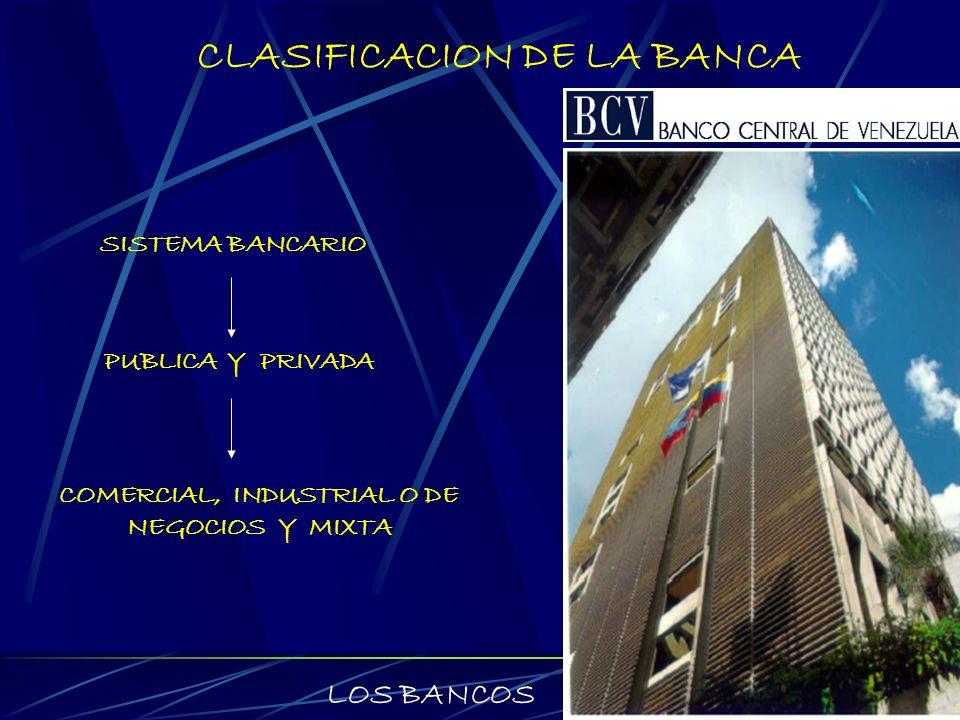 CLASIFICACION DE LA BANCA Bancos públicos: Son organismos creados por el gobierno federal con el objetivo de atender las necesidades de crédito de algunas actividades que se consideren básicas para el desarrollo de la economía de un país.