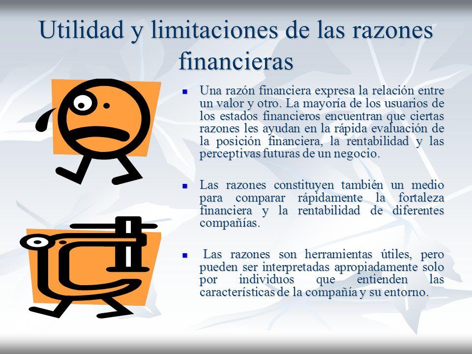 Análisis Financieros cont… Normas de comparación Normas de comparación Los analistas financieros generalmente utilizan dos criterios para evaluar la r