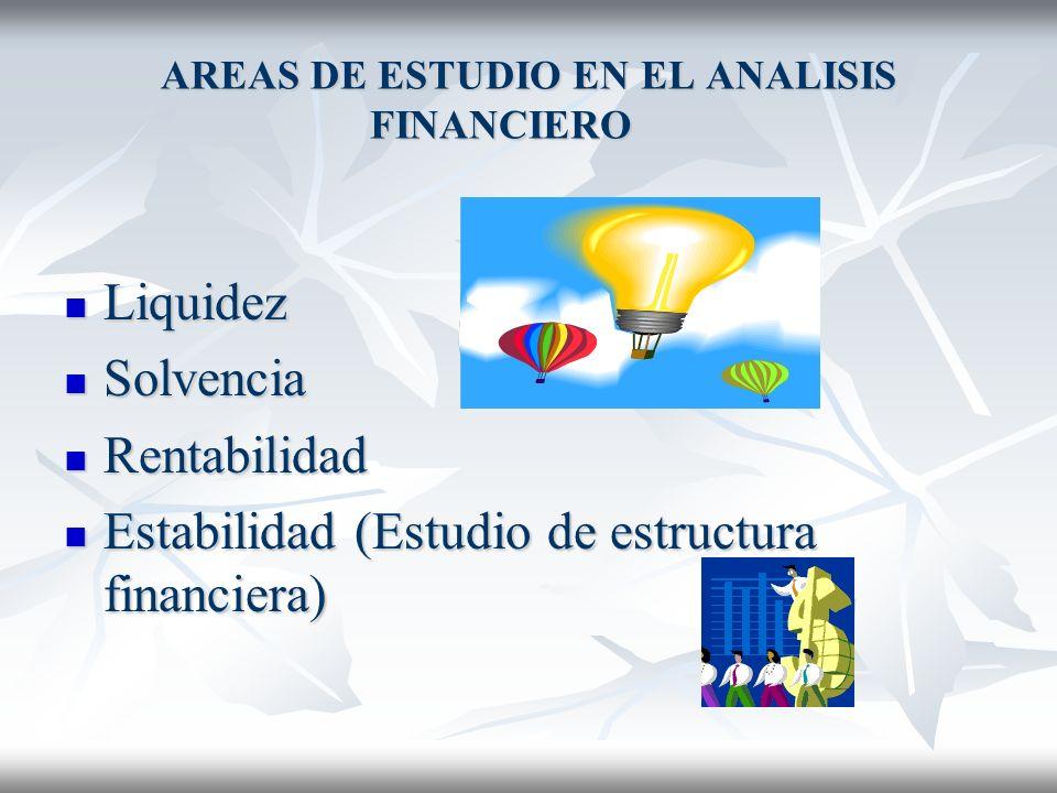 ESTADOS FINANCIEROS QUE SE ANALISAN Básicos: Básicos: Balance General Balance General Estado de Resultados Estado de Resultados Estado de Flujo de Efe
