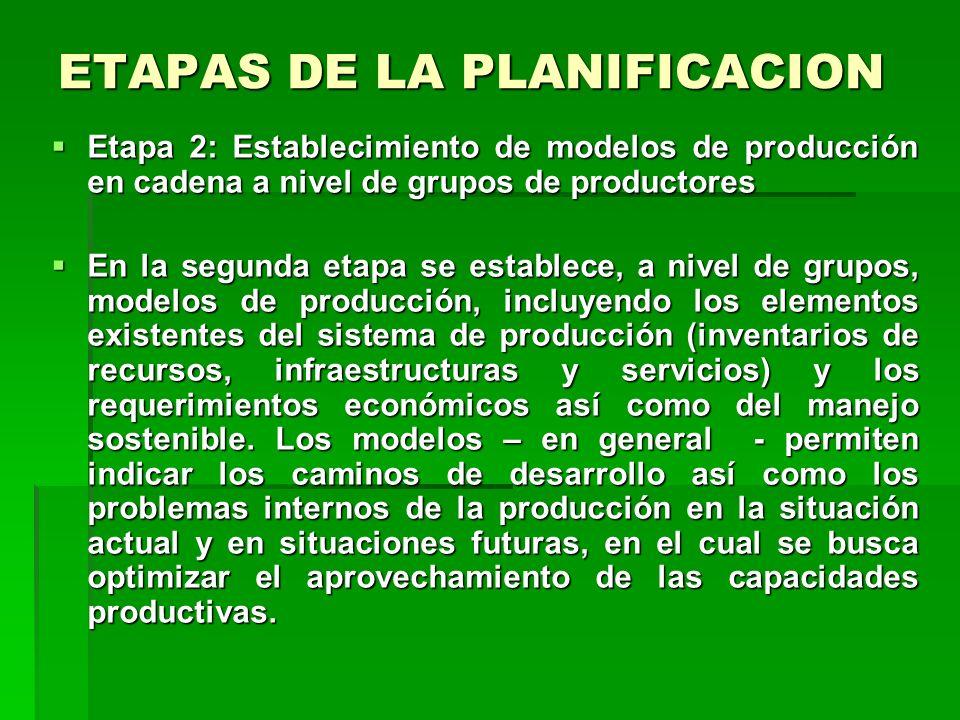 ETAPAS DE LA PLANIFICACION Etapa 1 : Planificación del uso de tierra Etapa 1 : Planificación del uso de tierra La planificación del uso de tierra se r