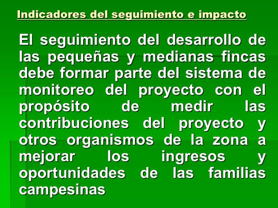 Escenario con proyecto y ex post Tomando como base la situación de finca descrita previo a las intervenciones del proyecto y las orientaciones para el
