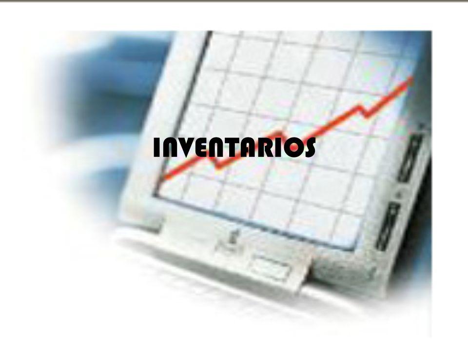 Tipos de inventarios Los inventarios son importantes para los fabricantes en general, y varia ampliamente entre los distintos grupos de industrias.