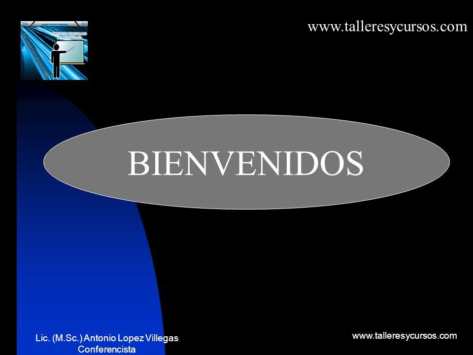 1 Gerencia efectiva Lic.(M.Sc.) Antonio López Villegas Conferencista
