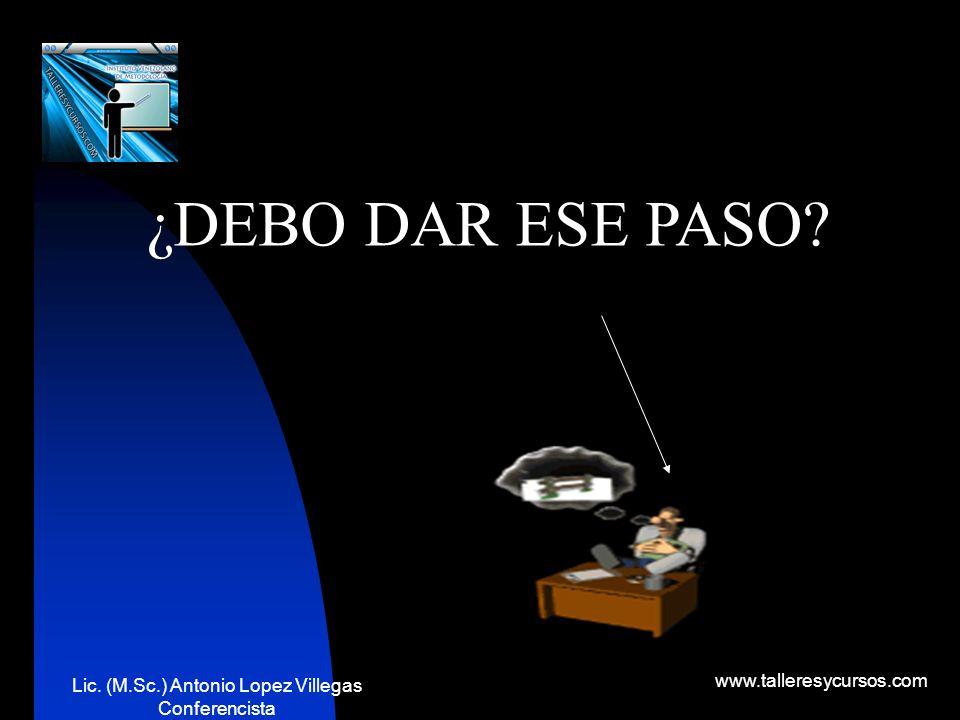 Lic. (M.Sc.) Antonio Lopez Villegas Conferencista www.talleresycursos.com Es toda modificación de un estado a otro, que es observado en el entorno y p