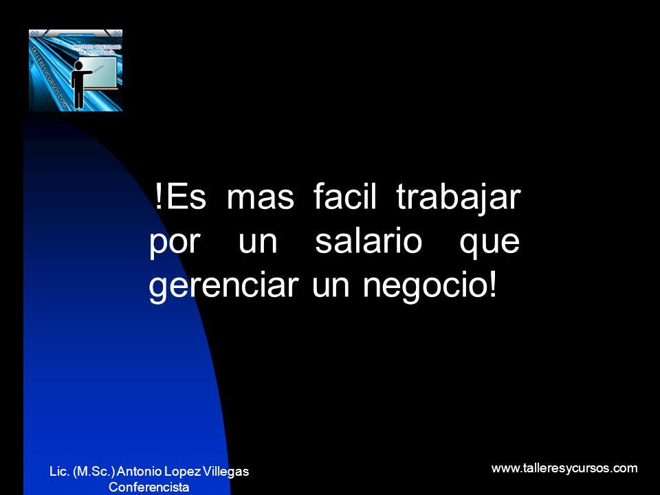 Lic. (M.Sc.) Antonio Lopez Villegas Conferencista www.talleresycursos.com paradigmas Valores Sistemas de creencias Miedos Resistencia al cambio Princi