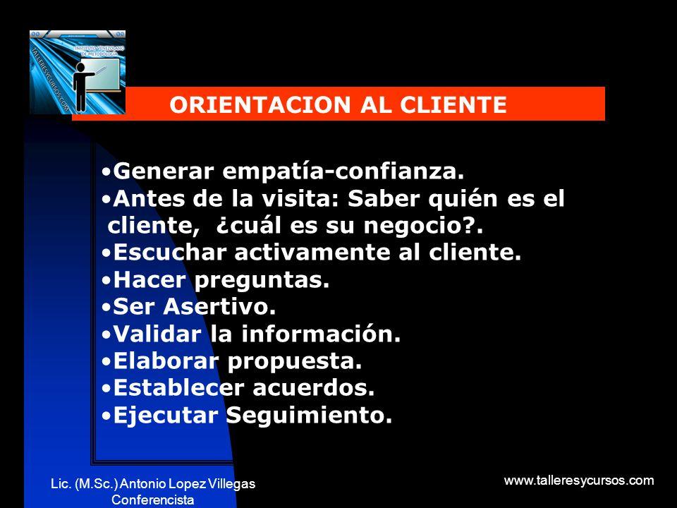 Lic. (M.Sc.) Antonio Lopez Villegas Conferencista www.talleresycursos.com Un equipo de trabajo requiere: En consecuencia habrá diferentes: 1.Establece