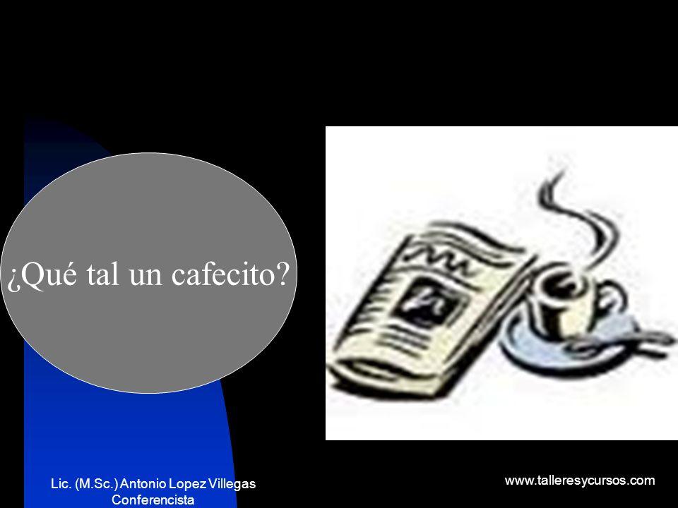 Lic. (M.Sc.) Antonio Lopez Villegas Conferencista www.talleresycursos.com Es la persona a quien va dirigido nuestro producto. Es nuestra razón de ser.